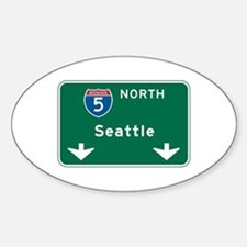 Seattle, WA Highway Sign Oval Decal
