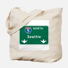 Seattle, WA Highway Sign Tote Bag