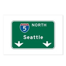 Seattle, WA Highway Sign Postcards (Package of 8)