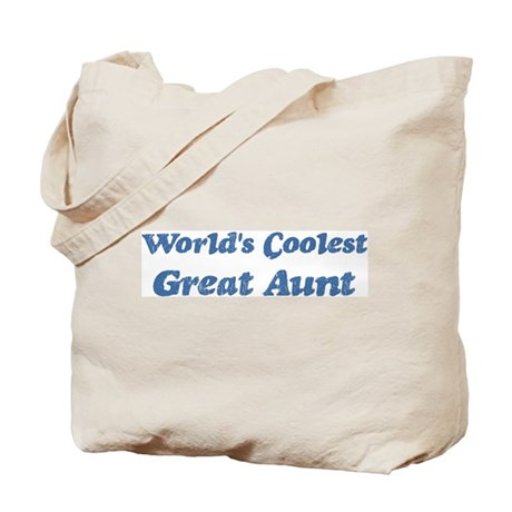 Worlds Coolest Great Aunt Tote Bag