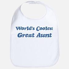 Worlds Coolest Great Aunt Bib