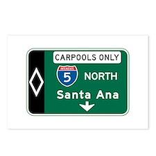 Santa Ana, CA Highway Sign Postcards (Package of 8