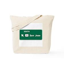 San Jose, CA Highway Sign Tote Bag