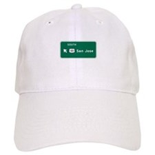 San Jose, CA Highway Sign Baseball Baseball Cap