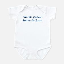 Worlds Coolest Sister in Law Infant Bodysuit