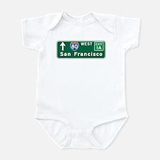 San Francisco, CA Highway Sign Infant Bodysuit