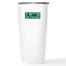 San Francisco, CA Highway Sign Travel Mug