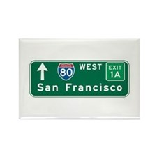 San Francisco, CA Highway Sign Rectangle Magnet