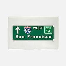 San Francisco, CA Highway Sign Rectangle Magnet