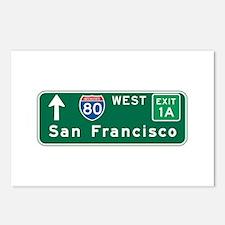 San Francisco, CA Highway Sign Postcards (Package