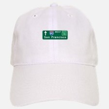 San Francisco, CA Highway Sign Baseball Baseball Cap