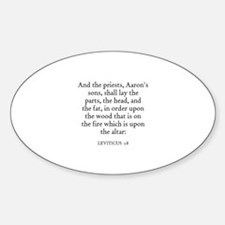 LEVITICUS 1:8 Oval Decal