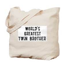 Worlds Greatest Twin Brother Tote Bag