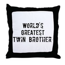 Worlds Greatest Twin Brother Throw Pillow