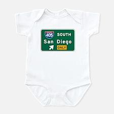 San Diego, CA Highway Sign Infant Bodysuit