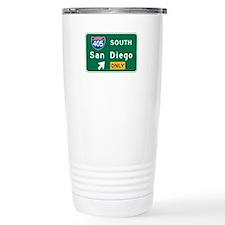 San Diego, CA Highway Sign Travel Mug
