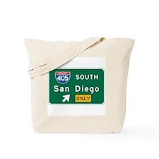 San Diego, CA Highway Sign Tote Bag