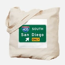 San Diego, CA Highway Sign Tote Bag