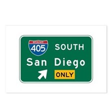 San Diego, CA Highway Sign Postcards (Package of 8