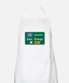 San Diego, CA Highway Sign BBQ Apron
