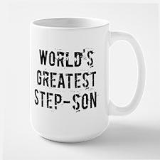 Worlds Greatest Step-son Large Mug
