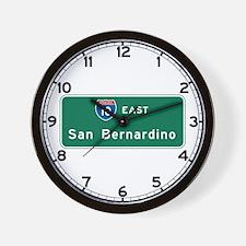 San Bernardino, CA Highway Sign Wall Clock