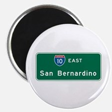"San Bernardino, CA Highway Sign 2.25"" Magnet (10 p"