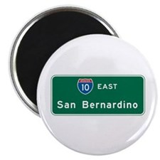San Bernardino, CA Highway Sign Magnet