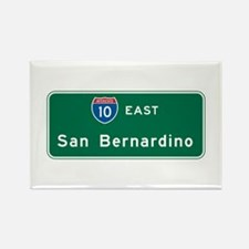 San Bernardino, CA Highway Sign Rectangle Magnet (