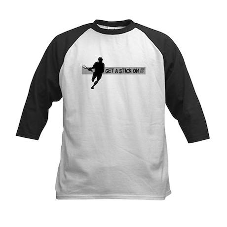 Lacrosse Stick on It Kids Baseball Jersey