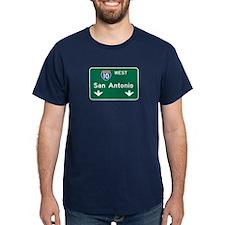 San Antonio, TX Highway Sign T-Shirt