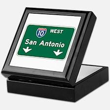 San Antonio, TX Highway Sign Keepsake Box