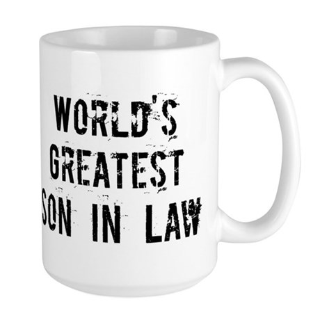 Worlds Greatest Son In Law Large Mug