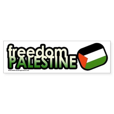 FREEDOM PALESTINE Bumper Sticker