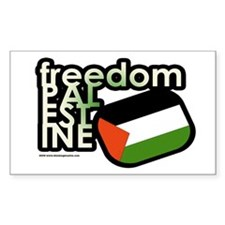 FREEDOM PALESTINE Rectangle Decal