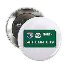 "Salt Lake City, UT Highway Sign 2.25"" Button"