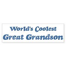 Worlds Coolest Great Grandson Bumper Bumper Sticker