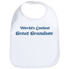 Worlds Coolest Great Grandson Bib