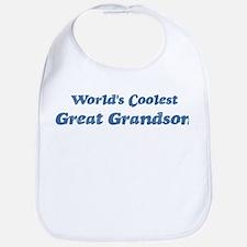 Worlds Coolest Great Grandson Bib