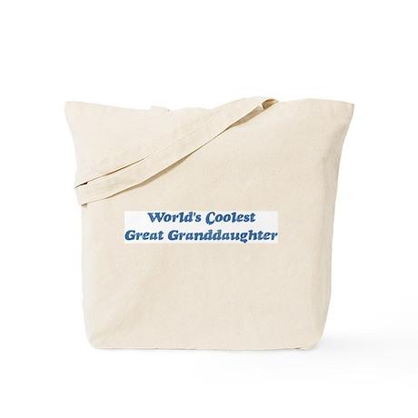 Worlds Coolest Great Granddau Tote Bag