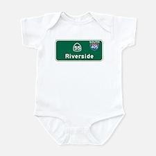 Riverside, CA Highway Sign Infant Bodysuit