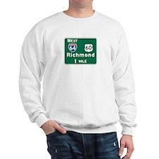 Richmond, VA Highway Sign Sweatshirt
