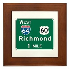 Richmond, VA Highway Sign Framed Tile