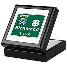 Richmond, VA Highway Sign Keepsake Box