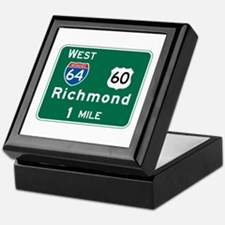 Richmond, VA Highway Sign Keepsake Box