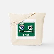 Richmond, VA Highway Sign Tote Bag
