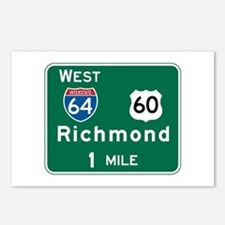 Richmond, VA Highway Sign Postcards (Package of 8)