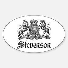 Stevenson Vintage Crest Family Name Oval Decal