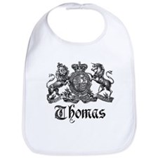 Thomas Vintage Crest Family Name Bib