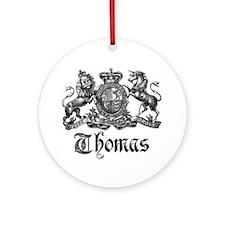 Thomas Vintage Crest Family Name Ornament (Round)